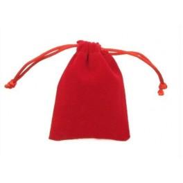 Bolsa para dados de terciopelo: color granate