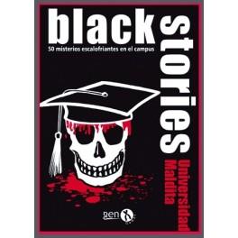 Black stories: universidad maldita juego de cartas