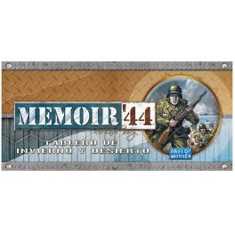 Memoir 44: Tablero de invierno y desierto - expansión juego de mesa