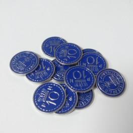Scythe: monedas metalicas $10 (x15)