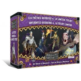 Massive Darkness. Sacerdotes guerreros vs. la Ciclope lancera - expansion juego de mesa