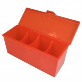 4 Compartment Storage Box Rojo - accesorio juegos de cartas
