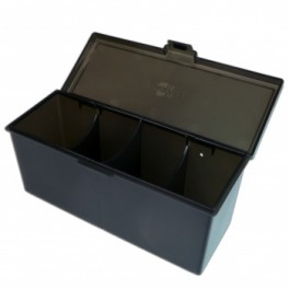4 Compartment Storage Box Negro - accesorio juego de mesa