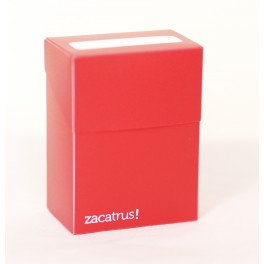 Deck Box Zacatrus Roja - accesorio juego de mesa