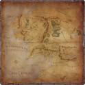 El Señor de los Anillos Viajes por la Tierra Media: Tapete de juego