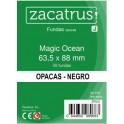 Fundas  Protectoras Zacatrus Standar Opacas Color Negro - Tamaño 63.5 x 88 MM
