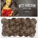 Arquitectos del Reino del Oeste: monedas metalicas accesorio juego de mesa