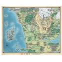 Dungeons and Dragons: Mapa de Faerun - suplemento de rol