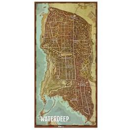 Dungeons and Dragons: Mapa de la ciudad de Waterdeep - suplemento de rol