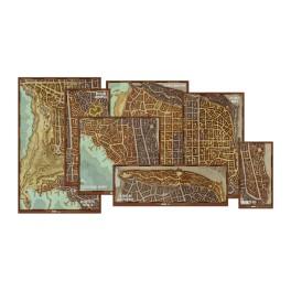 Dungeons and Dragons: Set de mapas de los distritos de Waterdeep - suplemento de rol