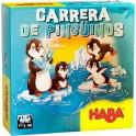 Carrera de pinguinos - juego de mesa para niños