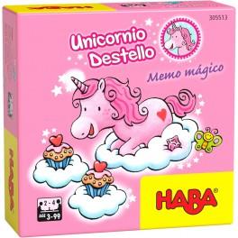 Unicornio Destello: Memo Magico - juego de mesa para niños