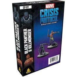 Marvel Crisis Protocol Black Panther and Killmonger - expansión juego de mesa