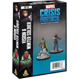 Marvel Crisis Protocol Vision and Winter Soldier - expansión juego de mesa