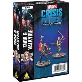 Marvel Crisis Protocol Thor and Valkyrie - expansión juego de mesa