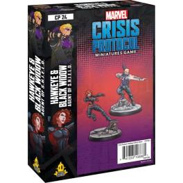 Marvel Crisis Protocol Hawkeye and Black Widow - expansión juego de mesa