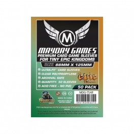 Fundas  Protectoras Mayday Tiny epic Kingdoms PREMIUM - Tamaño 88x125 MM