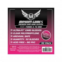 50 Fundas Cuadradas Premium Mayday 70x70mm